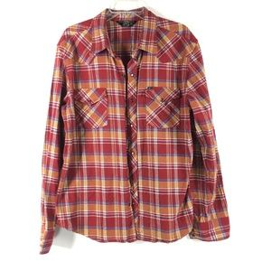 Salt Valley Western Mens Button Snap Flannel Thick